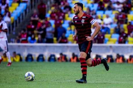 Rhodolfo deve ser titular do Flamengo diante do Internacional, no Beira-Rio (Foto: Alexandre Vidal/Flamengo)