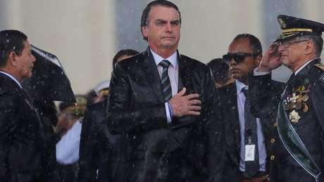 'Qualquer hipótese será decidida EXCLUSIVAMENTE pelo Presidente da República, ouvindo o Conselho de Defesa Nacional', publicou Bolsonaro, no Twitter