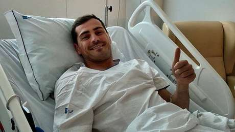 Após enfartar, Casillas está bem, mas sem previsão de retorno aos gramados.