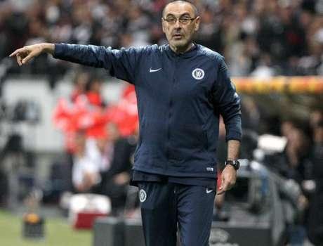 Sarri durante a partida desta quinta-feira (Foto: AFP)