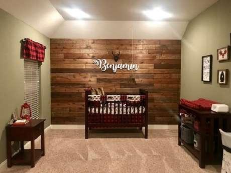 42 – Decoração de quarto simples de bebê ao estilo rústico. Fonte CraftRiver