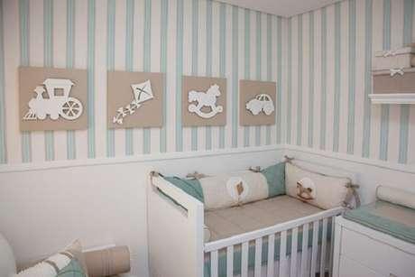 8 – Decoração de quarto simples de bebê. Fonte: Apê em Decoração