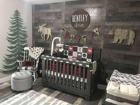 45 – Decoração para quarto simples de bebê com tema de floresta. Fonte CoachDecor
