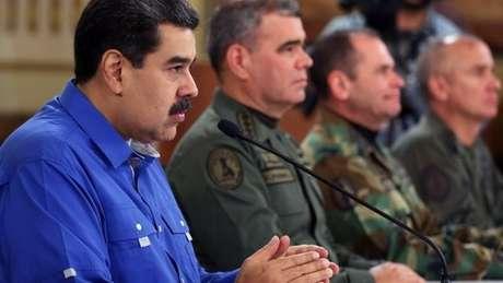 Nicolás Maduro tem o apoio dos principais chefes militares da Venezuela