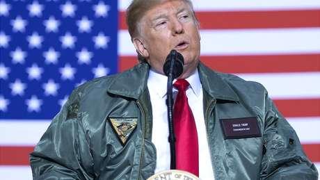 O presidente Donald Trump repetidas vezes declarou seu apoio a Juan Guaidó