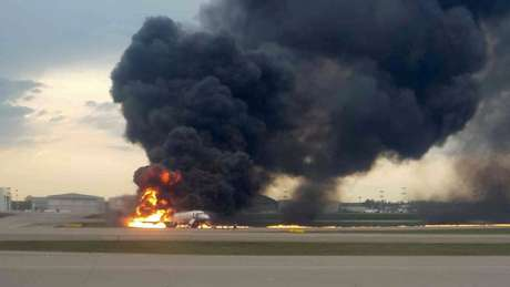 O pouso de emergência ocorreu pouco depois da decolagem