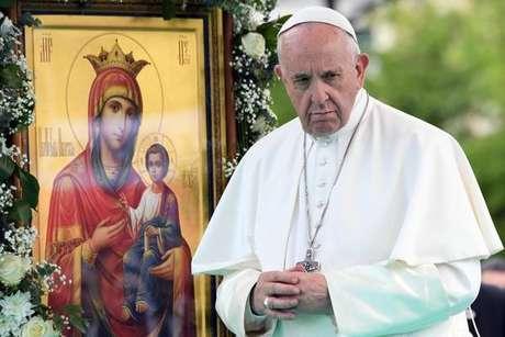 Papa Francisco durante visita à Bulgária