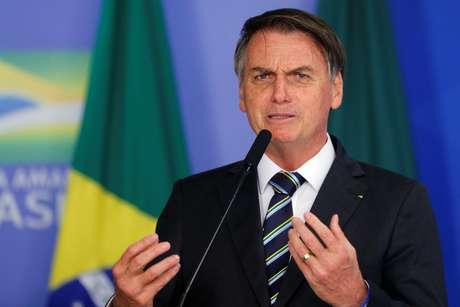 Presidente Jair Bolsonaro durante cerimônia no Palácio do Planalto 30/04/2019 REUTERS/Adriano Machado