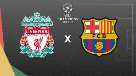 Reds recebem o Barça nesta terça-feira (Arte: LANCE)