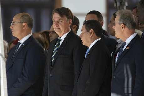 Jair Bolsonaro, Presidente do Brasil, durante cerimônia de lançamento de selo e medalha comemorativa ao 130° aniversário do Colegio Militar-RJ realizada no Colegio Militar em Rio de Janeiro