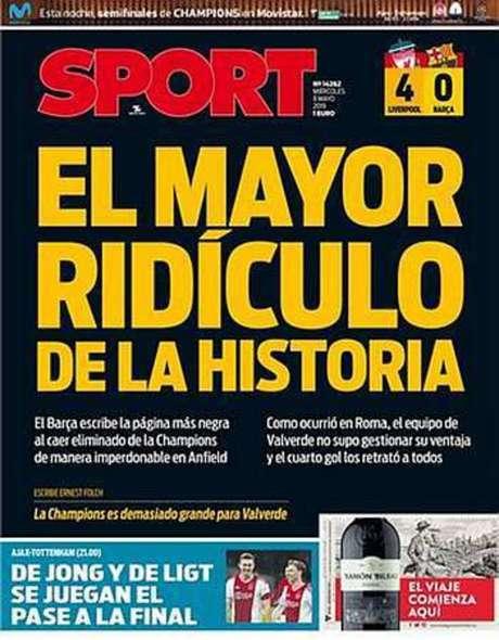 Capa do Sport, da Espanha