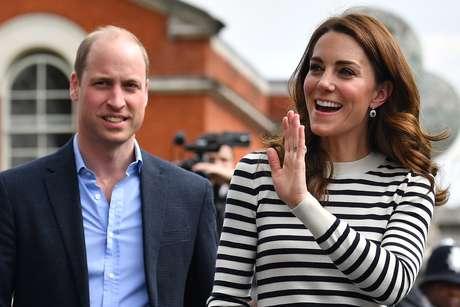 Kate Middleton e William em evento esportivo
