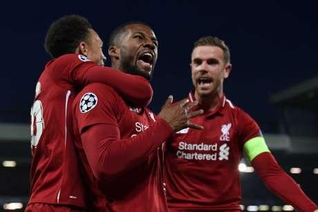 Liverpool é o primeiro finalista da Champions 18/19 (Foto: PAUL ELLIS / AFP)
