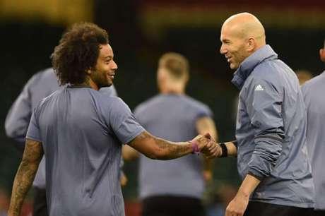 Zidane confia muito em Marcelo (Foto: Filippo Monteforte / AFP)