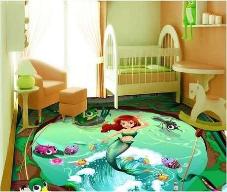 6 – Aposte em piso 3D para quarto infantil. Fonte: Pinterest