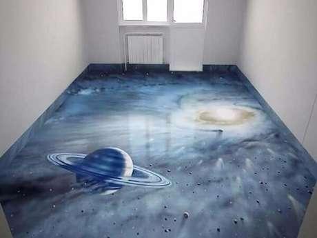 50 – Elementos do universo fazem parte do piso 3D. Fonte: Mercado Livre