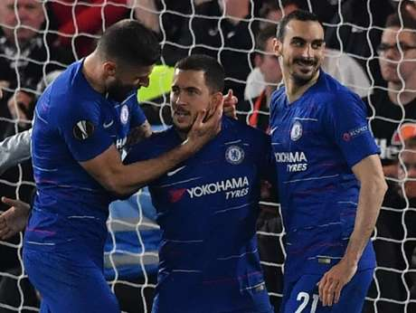 Hazard bateu pênalti decisivo que colocou Chelsea na final da Europa League (Foto: AFP)
