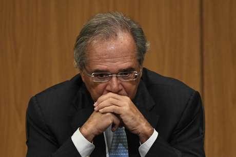 Ministro da Economia, Paulo Guedes, durante cerimônia no Banco Central