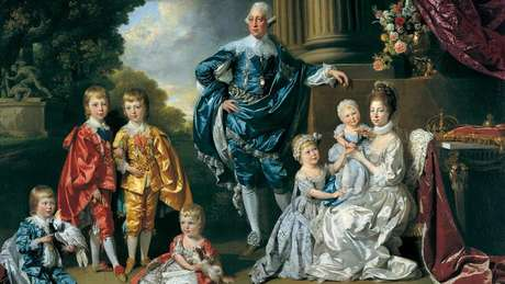 Historiador aponta indícios de que Charlotte (no retrato, com os filhos e o marido) era descendente da africana Madragana Ben Aloandro, amante do rei português Afonso III