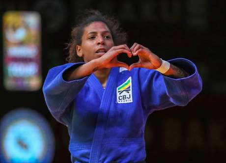 Rafaela Silva foi medalha de ouro no Grand Slam de Baku