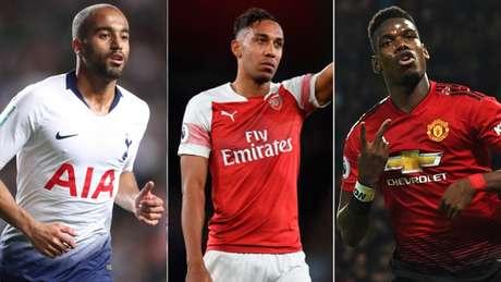 Tottenham, Arsenal e Manchester United brigam pelas últimas vagas nas competições europeias (Foto: Reprodução)