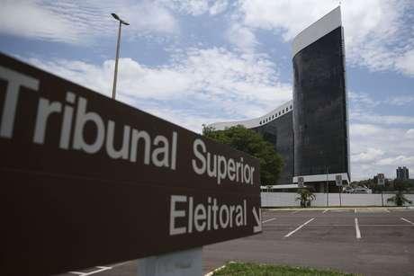 A fachada da sede do TSE, em Brasília