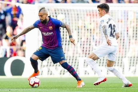 Vidal marcou o primeiro gol do Barcelona na partida, que terminou em 2 a 0 (Divulgação/Twitter)