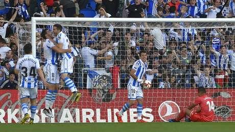 Real Sociedad venceu o Madrid (Foto: Ander Gillenea / AFP)