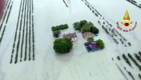 Inundação do rio Savio, na província de Forlí-Cesena