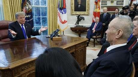 Trump com autoridade chinesa destacada para as negociações comerciais, o vice-premiê Liu He
