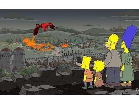 """Coincidência? Cena do penúltimo episódio de """"Game of Thrones"""" já foi prevista em """"Os Simpsons"""" em 2017"""