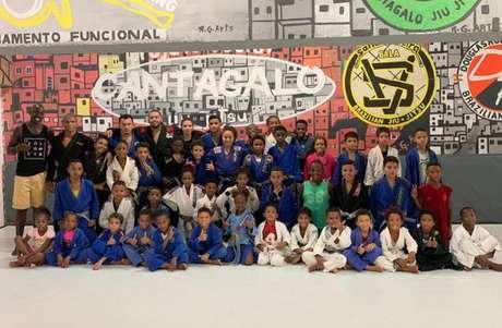 Líder do projeto social no Cantagalo, na Zona Sul do Rio, elogiou a trabalho da CBJJD e FJJD-Rio (Foto: Divulgação)