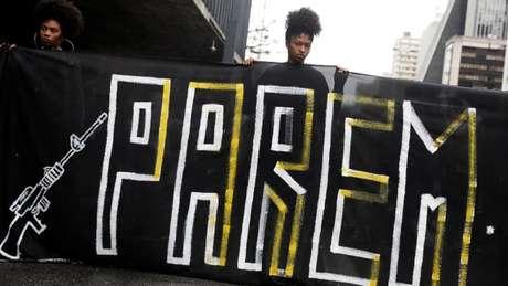 Protestos contra violência policial e militar foram realizados no Rio de Janeiro após a morte de Evaldo Rosa