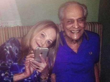 Lucio Mauro e a esposa, juntos em 2016, pouco tempo antes de sofrer um AVC. Ator morreu em maio de 2019.