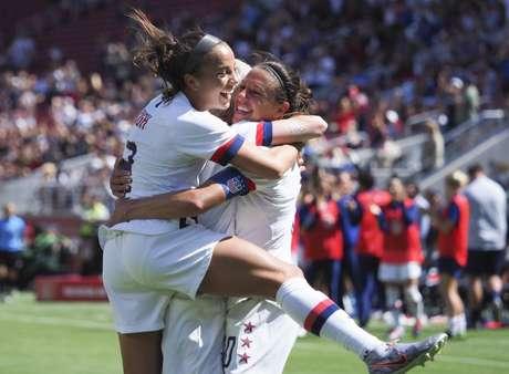 Jogadoras da seleção de futebol feminino dos EUA 12/05/2019 Kelley L Cox-USA TODAY Sports