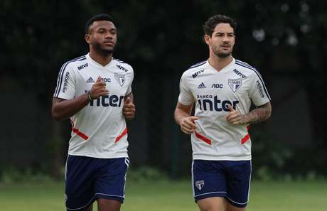 Luan e Pato estão liberados pelos médicos do São Paulo - FOTO: Rubens Chiri/saopaulofc.net
