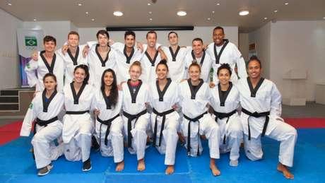Seleção Brasileira de Taekwondo está em Manchester para a realização do Mundial (Foto: Divulgação/CBTKD)