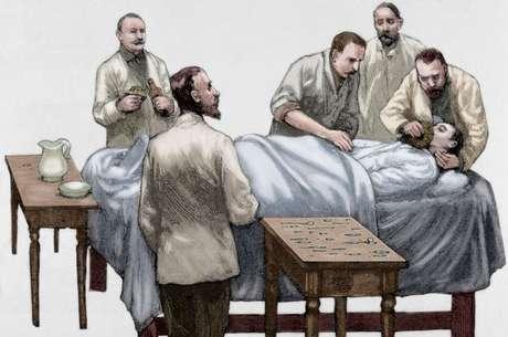 O clorofórmio começou a ser usado nas operações no final do século 19