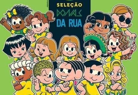 'Turma da Mônica' faz homenagem para a Copa do Mundo de Futebol Feminino.