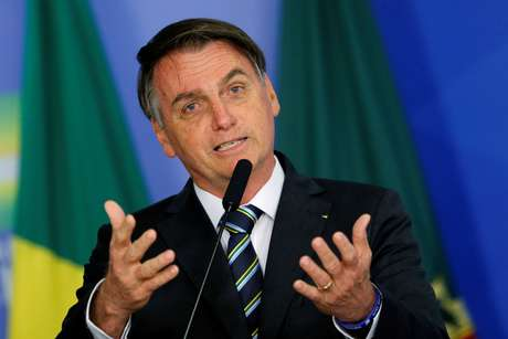 Bolsonaro, em evento no Planalto 30/4/2019  REUTERS/Adriano Machado