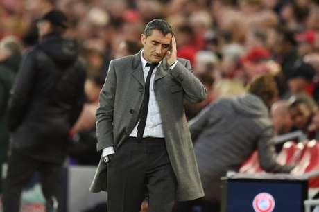 Passagem de Valverde é marcada por duas eliminações históricas na Liga dos Campeões (Foto: AFP)