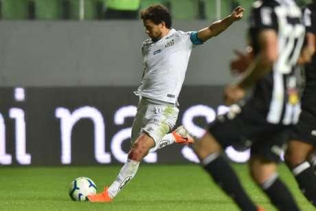 Santos pecou nas finalizações no empate em 0 a 0 com o Galo, nesta quarta-feira (Divulgação/Twitter Santos)
