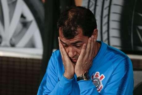 O técnico do Corinthians, Fábio Carille