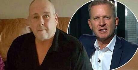 Steve Dymond e, no detalhe, o apresentador Jeremy Kyle: a exploração na TV de suposta infidelidade terminou em tragédia