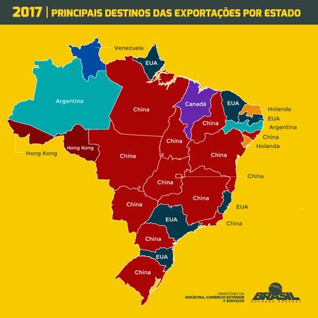 China já é principal parceiro comercial de grande parte dos estados brasileiros