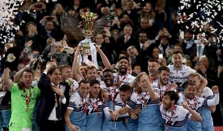 Lazio foi campeã da Copa da Itália (Foto: AFP)