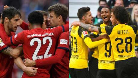 Dois pontos separam o líder Bayern do vice-líder Borussia Dortmund (Foto: Reprodução)