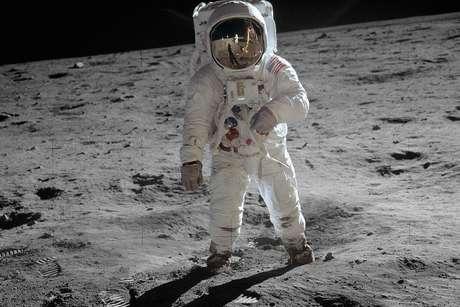 Esse foi o primeiro homem na Lua — queremos logo fotos da primeira mulher! (Foto: Reprodução / NASA)