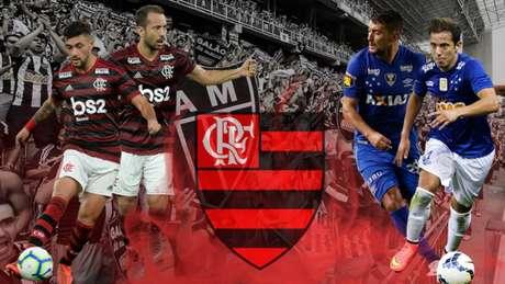 Arrascaeta e Everton Ribeirro têm bons números contra o Atlético-MG (Arte: Marcelo Moraes/ Lancepress!)