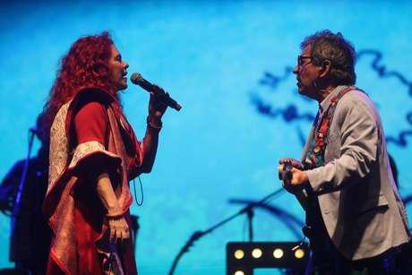 O duo de música infantil Palavra Cantada se apresenta na abertura da Virada Cultural 2019, no Vale do Anhangabaú, no centro de São Paulo